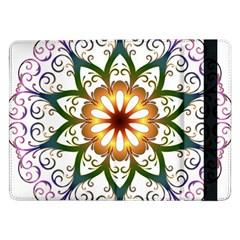 Prismatic Flower Floral Star Gold Green Purple Samsung Galaxy Tab Pro 12.2  Flip Case