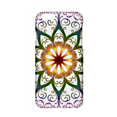 Prismatic Flower Floral Star Gold Green Purple Apple iPhone 6/6S Hardshell Case