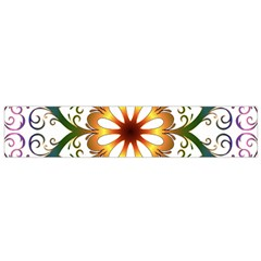 Prismatic Flower Floral Star Gold Green Purple Flano Scarf (Small)