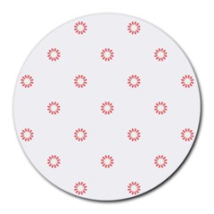 Scrapbook Paper Flower Round Mousepads
