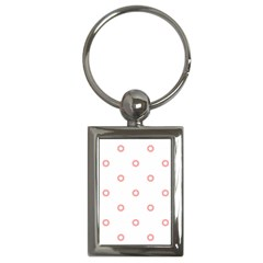 Scrapbook Paper Flower Key Chains (rectangle)