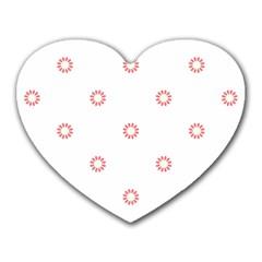 Scrapbook Paper Flower Heart Mousepads
