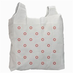 Scrapbook Paper Flower Recycle Bag (Two Side)