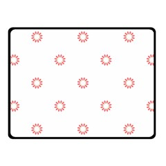 Scrapbook Paper Flower Fleece Blanket (Small)