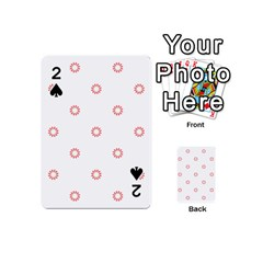 Scrapbook Paper Flower Playing Cards 54 (Mini)