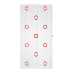 Scrapbook Paper Flower Shower Curtain 36  X 72  (stall)