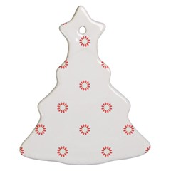 Scrapbook Paper Flower Christmas Tree Ornament (Two Sides)