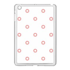 Scrapbook Paper Flower Apple iPad Mini Case (White)
