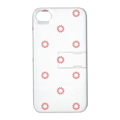 Scrapbook Paper Flower Apple iPhone 4/4S Hardshell Case with Stand