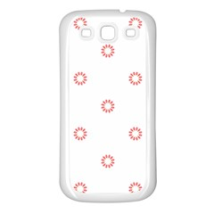 Scrapbook Paper Flower Samsung Galaxy S3 Back Case (White)