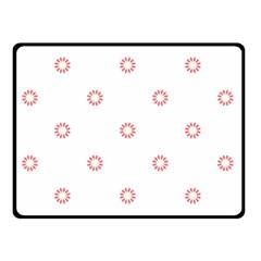 Scrapbook Paper Flower Double Sided Fleece Blanket (Small)