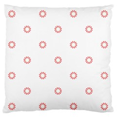 Scrapbook Paper Flower Large Flano Cushion Case (Two Sides)