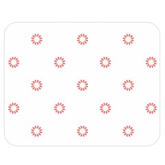 Scrapbook Paper Flower Double Sided Flano Blanket (Medium)