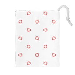 Scrapbook Paper Flower Drawstring Pouches (Extra Large)