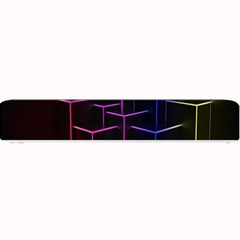 Space Light Lines Shapes Neon Green Purple Pink Small Bar Mats