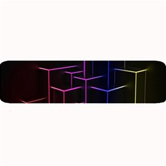 Space Light Lines Shapes Neon Green Purple Pink Large Bar Mats