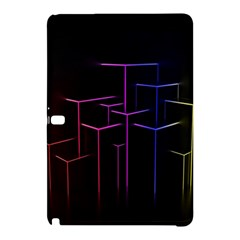 Space Light Lines Shapes Neon Green Purple Pink Samsung Galaxy Tab Pro 12.2 Hardshell Case