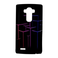 Space Light Lines Shapes Neon Green Purple Pink LG G4 Hardshell Case