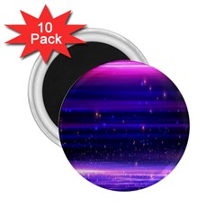 Space Planet Pink Blue Purple 2 25  Magnets (10 Pack)
