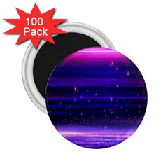 Space Planet Pink Blue Purple 2.25  Magnets (100 pack)