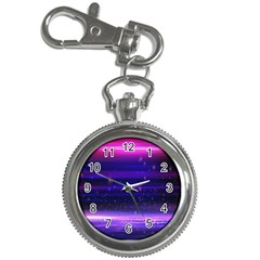 Space Planet Pink Blue Purple Key Chain Watches