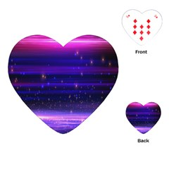 Space Planet Pink Blue Purple Playing Cards (Heart)