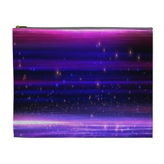 Space Planet Pink Blue Purple Cosmetic Bag (XL)
