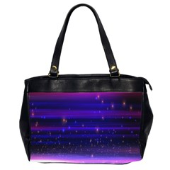 Space Planet Pink Blue Purple Office Handbags (2 Sides)