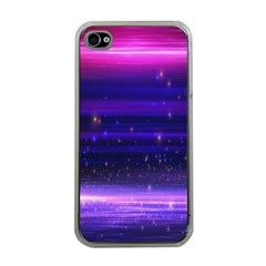Space Planet Pink Blue Purple Apple iPhone 4 Case (Clear)
