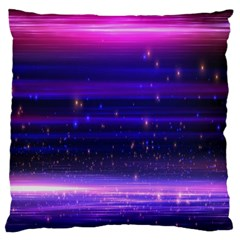 Space Planet Pink Blue Purple Large Cushion Case (One Side)