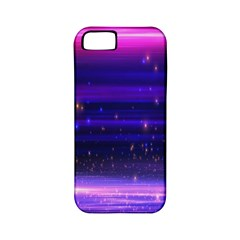 Space Planet Pink Blue Purple Apple iPhone 5 Classic Hardshell Case (PC+Silicone)