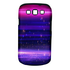 Space Planet Pink Blue Purple Samsung Galaxy S III Classic Hardshell Case (PC+Silicone)