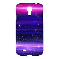Space Planet Pink Blue Purple Samsung Galaxy S4 I9500/I9505 Hardshell Case