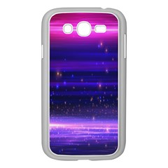 Space Planet Pink Blue Purple Samsung Galaxy Grand DUOS I9082 Case (White)
