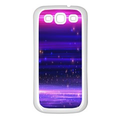 Space Planet Pink Blue Purple Samsung Galaxy S3 Back Case (White)