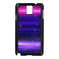 Space Planet Pink Blue Purple Samsung Galaxy Note 3 N9005 Case (Black)