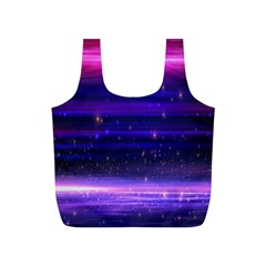Space Planet Pink Blue Purple Full Print Recycle Bags (S)