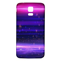 Space Planet Pink Blue Purple Samsung Galaxy S5 Back Case (White)