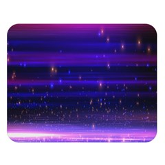 Space Planet Pink Blue Purple Double Sided Flano Blanket (Large)