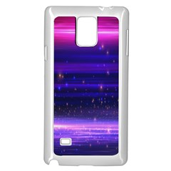 Space Planet Pink Blue Purple Samsung Galaxy Note 4 Case (White)