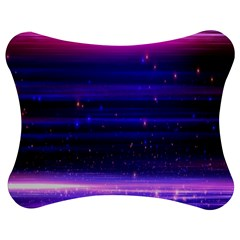 Space Planet Pink Blue Purple Jigsaw Puzzle Photo Stand (Bow)