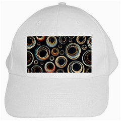 Seamless Cubes Texture Circle Black Orange Red Color Rainbow White Cap