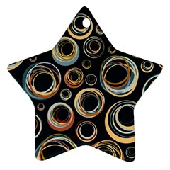 Seamless Cubes Texture Circle Black Orange Red Color Rainbow Ornament (star)