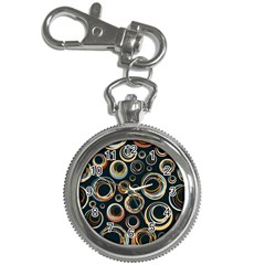Seamless Cubes Texture Circle Black Orange Red Color Rainbow Key Chain Watches