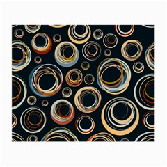 Seamless Cubes Texture Circle Black Orange Red Color Rainbow Small Glasses Cloth