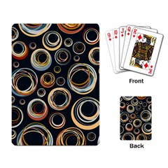 Seamless Cubes Texture Circle Black Orange Red Color Rainbow Playing Card