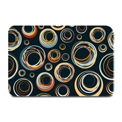 Seamless Cubes Texture Circle Black Orange Red Color Rainbow Plate Mats