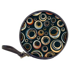 Seamless Cubes Texture Circle Black Orange Red Color Rainbow Classic 20-CD Wallets