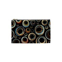 Seamless Cubes Texture Circle Black Orange Red Color Rainbow Cosmetic Bag (Small)