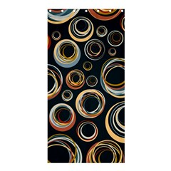 Seamless Cubes Texture Circle Black Orange Red Color Rainbow Shower Curtain 36  x 72  (Stall)